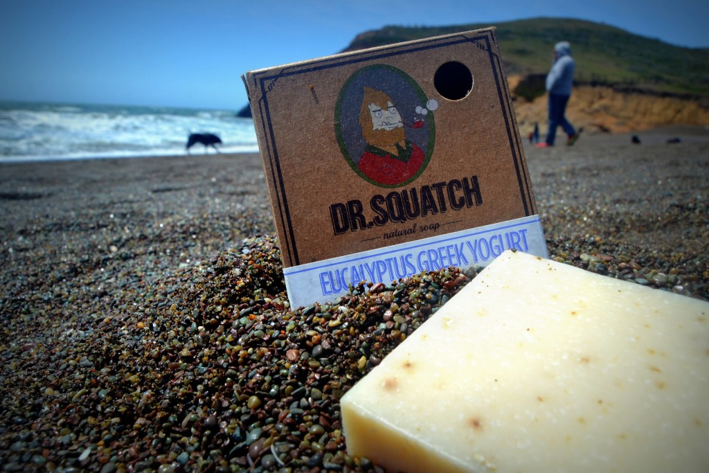 eucalyptus soap on the beach
