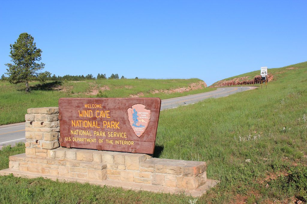 Entrance to Wind Cave National park