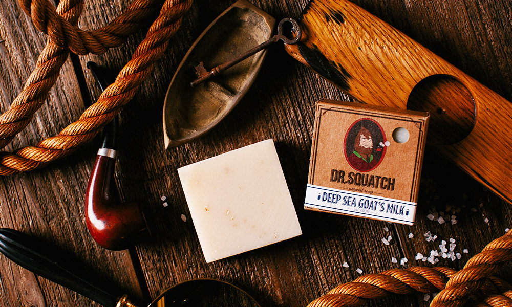 Dr Squatch Natural Soap, Deep Sea Goat's Milk