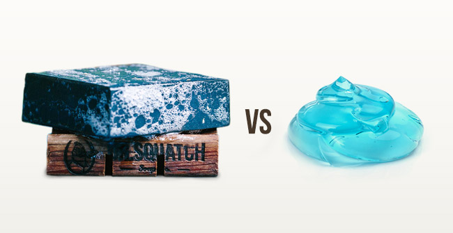Natural Soap vs. Body Wash
