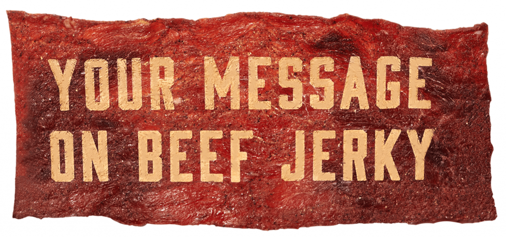unique gifts for dad beef jerky card