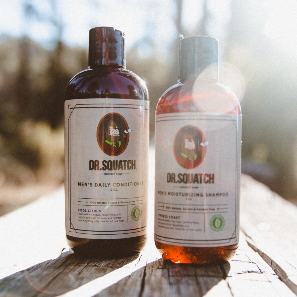 dr squatch shampoo and conditioner lifestyle